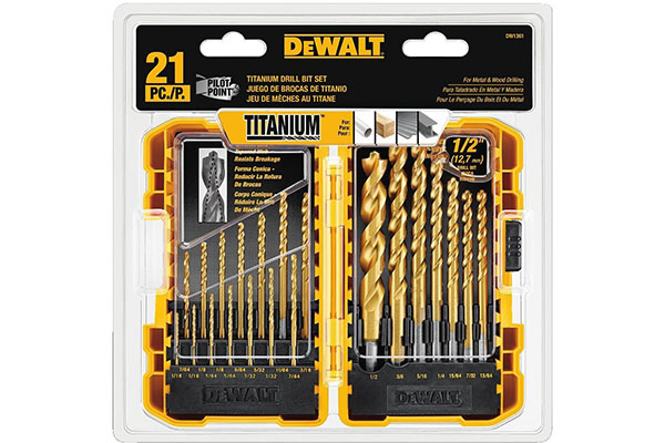 Best drill bits for steel all of the pieces in this 21 piece titanium drill set are coated with titanium to ensure a longer life this product can also work on plastic and wood keyboard keysfo Images